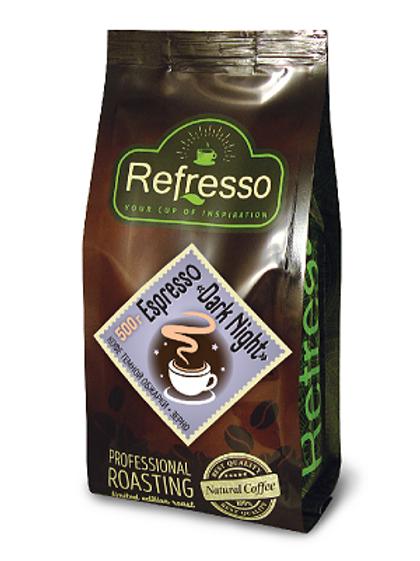 Кофе Refresso Dark nigh Espresso. Молотый или в зёрнах 500 гр.