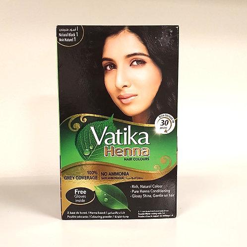 Хна для волос Ватика натуральный чёрный (Vatika Henna Black 1)