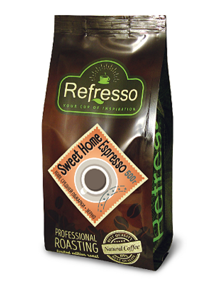 Кофе Refresso Sweet Home Espresso. Молотый или в зёрнах 500 гр.
