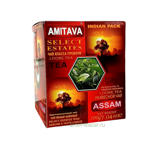 """Чай """"Амитава""""(Amitava) индийский чёрный байховый Ассам, 200 гр"""