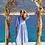 Thumbnail: Платье голубое в полоску , L