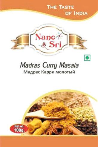Специи Мадрас Карри масала для разных блюд Nano Sri