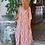 Thumbnail: Платье розовое с цветочным принтом. S,M.