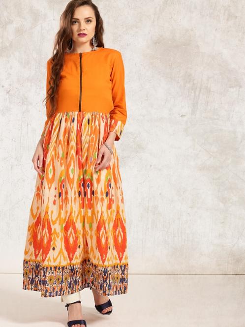 Платье оранжевое Anouk, L