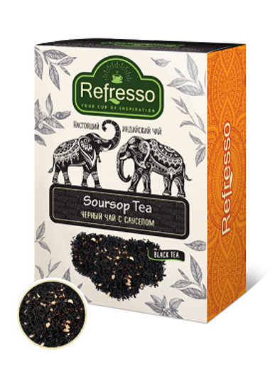 Чай чёрный с саусепом Рефрессо (Refresso Soursop black tea) 100 гр