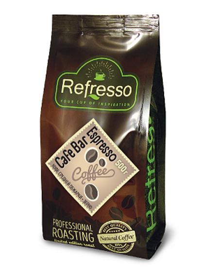 Кофе Refresso Cafe Bar Espresso. Молотый или в зёрнах 500 гр.