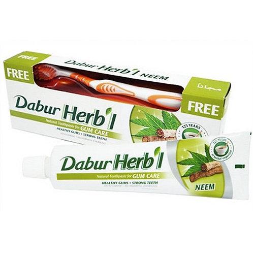 Зубная паста Ним Дабур Хербл + зубная щётка (Neem Dabur Herbl), 150 гр