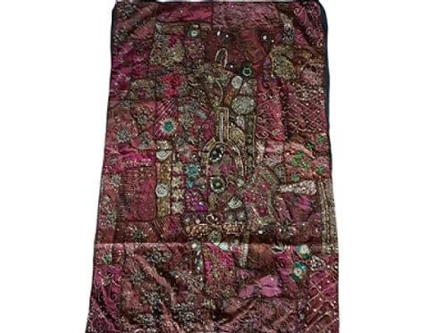 Ковёр тканевой индийский расшитый бисером