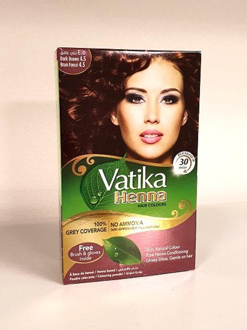 Хна для волос Ватика тёмный коричневый (Vatika Henna Dark Brown 4,5)