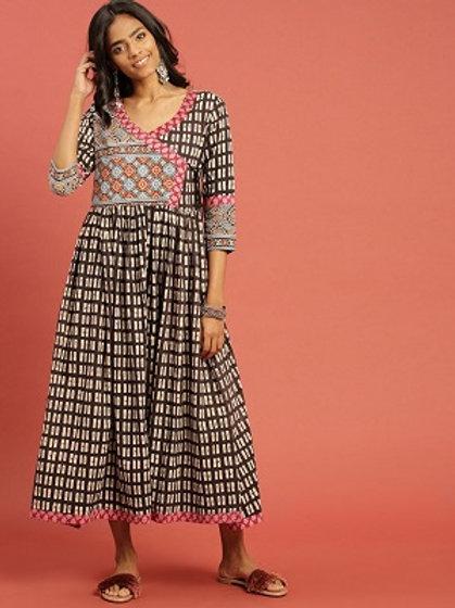 Платье с геометрическим рисунком, S