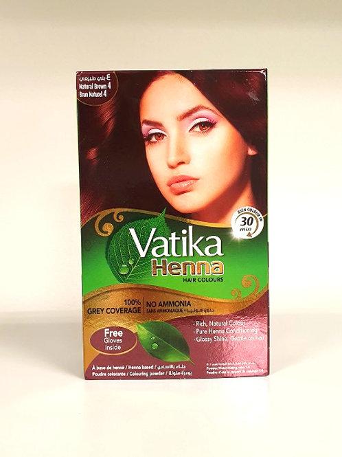 Хна для волос Ватика коричневый (Vatika Henna Brown 4)