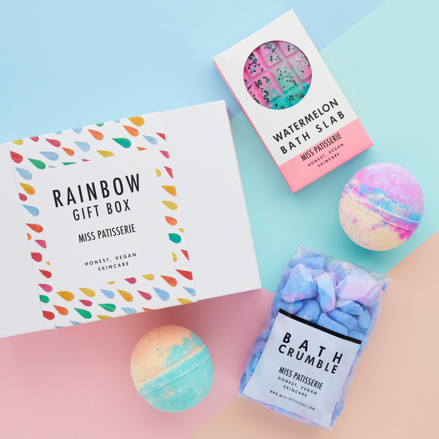 Rainbow gift box design