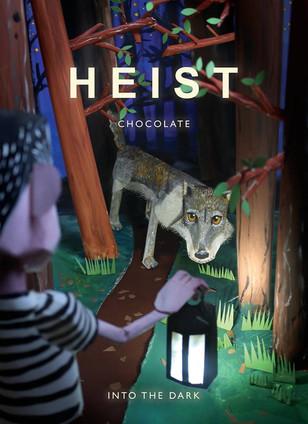 Into the Dark - chocolate label design