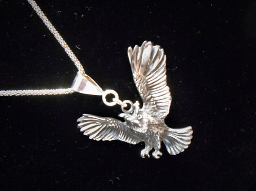 Stainless Steel Owl Pendant and Chain