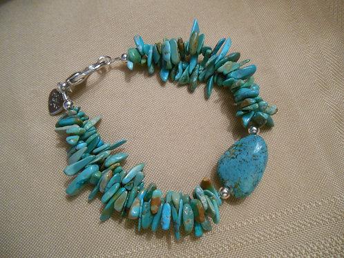 Turquoise - Double Strand Bracelet