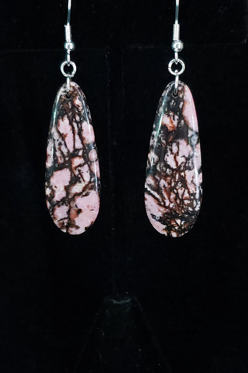 Rhodonite earrings