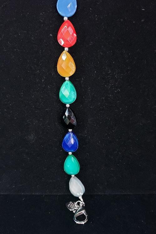 Mixed color glass bracelet