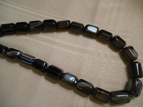 Banded Agate Bead Strand