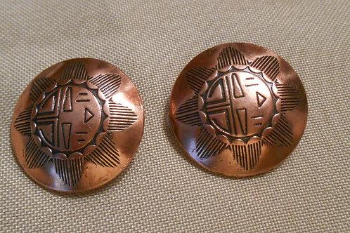Copper Clip on Earrings