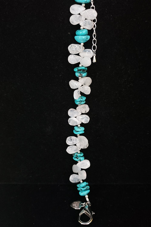 Turquoise and moonstone bracelet