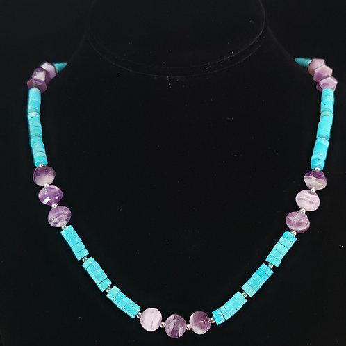 Howlite & amethyst necklace
