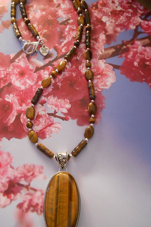 Tigers eye necklace and Pendant
