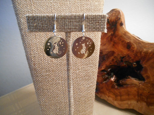 Stainless steel earrings with Cat