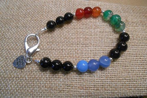 Multi Colored Agate Beaded Bracelet