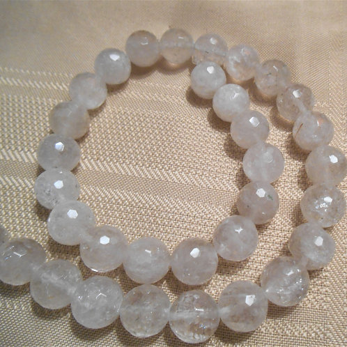 Quartz Beads - Faceted Rounds