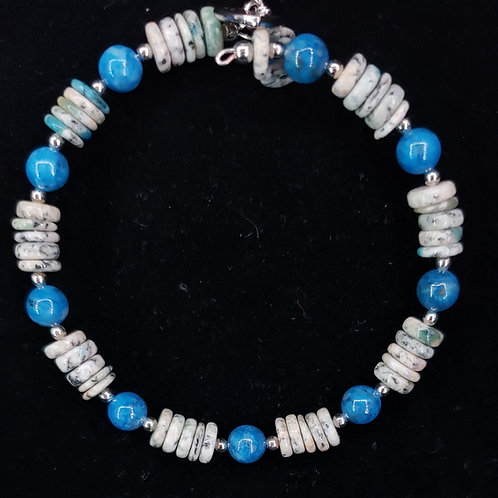 Lapis and K2 jasper bracelet