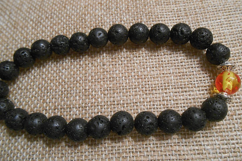 Lava Rock Stretch Bracelet