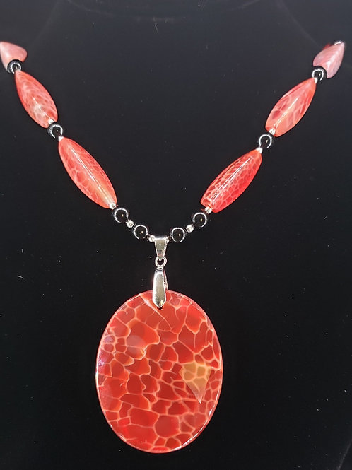 Dragon skin agate necklace