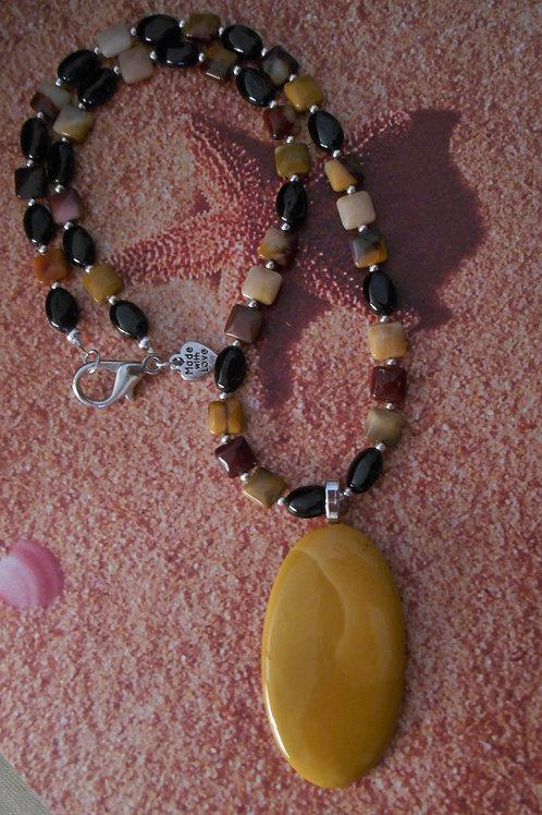 Mookaite jasper necklace