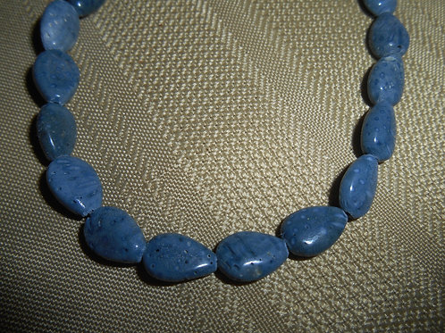 Blue Coral Bead Strand