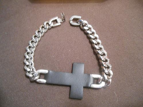 Stainless Steel Figaro Chain Bracelet