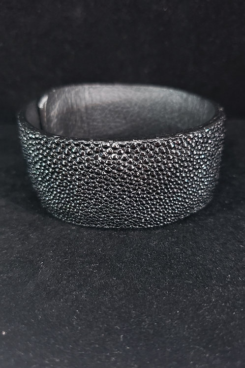 Stingray leather cuff