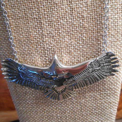 Stainless Steel Eagle Pendant with Chain