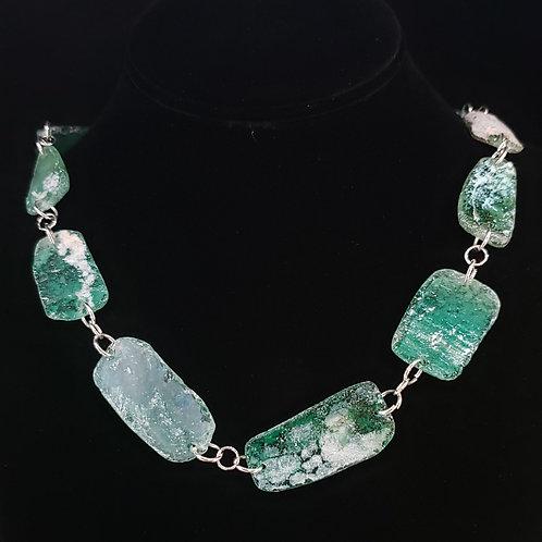 Desert glass necklace