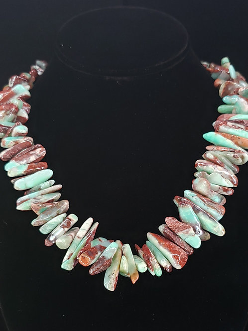 Chunky chrysoprase necklace