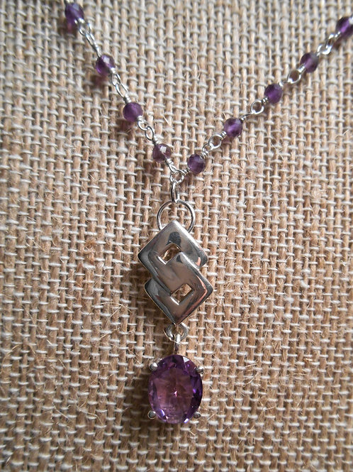 Amethyst Necklace and Pendant