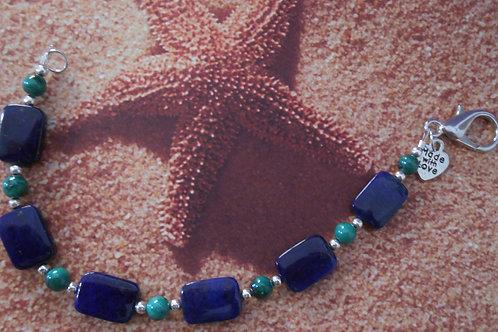 Lapis and Malachite Bracelet