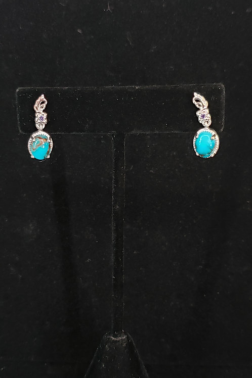 Mohave blue turquoise earrings