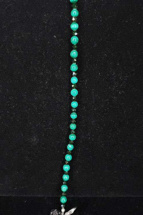 Malachite and greenstone bracelet