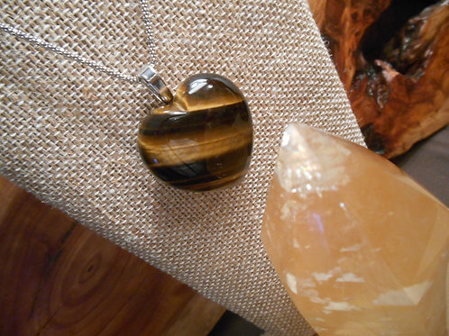 Tigers Eye Heart Pendant
