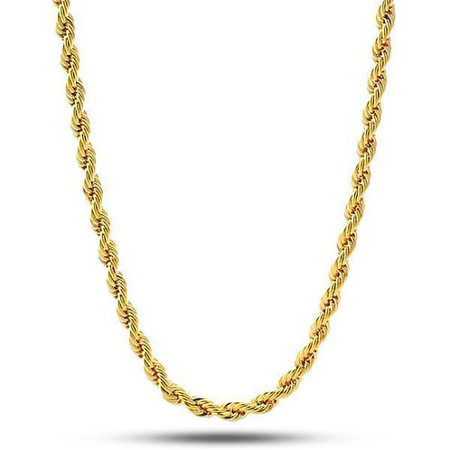 Gold tone rope chain