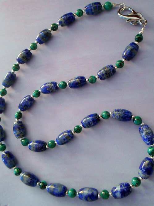 Lapis and Malachite Necklace