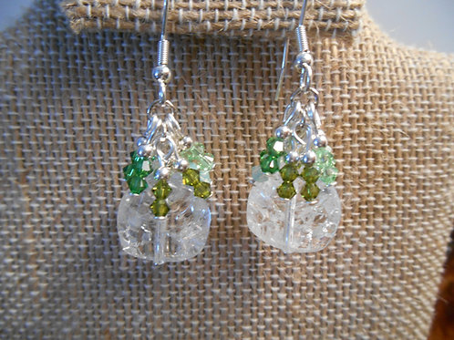 Clear Quartz and Swarovski Crystal Earrings