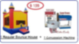 Bounce house and food machine package