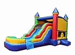 Bounce house with water