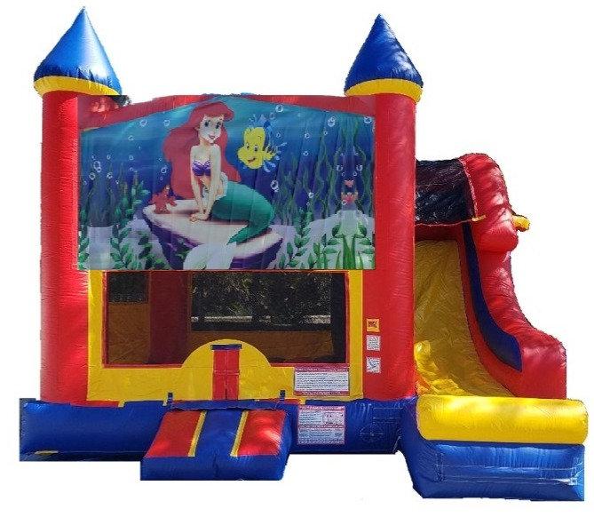 Little Mermaid Combo Bounce House